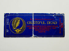 Grateful Dead Ticket Stub 1983 1984 New Years Eve 12/31/1983 SF Civic CA SYF !