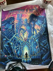 """Metallica """"THE UNFORGIVEN"""" Poster by Dan Mumford - Limited Edition 500 Numbered"""