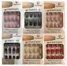 FALSE fake NAILS medium french airbrushed full nail art gel acrylic with glue UK
