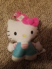 Hello Kitty . Dog Toy Plushy . Blue & Pink