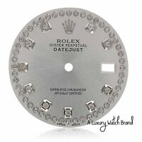 Silver String Diamond Dial for Rolex Mens Datejust 36mm Watch 16014 16234 116234