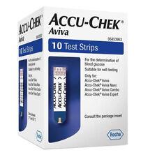ACCU-Chek Aviva tiras de prueba de glucosa en la sangre - 10 pruebas