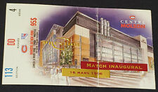 1996 - MONTREAL CANADIENS vs NEW YORK RANGERS - NHL INAUGURAL MATCH TICKET STUB