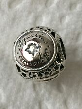 pandora silver  zodiac charm Aquarius star sign