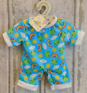Build a Bear Clothes - Spring Frog Sleeper, Rainbow/Sun/Clouds Design BNWT