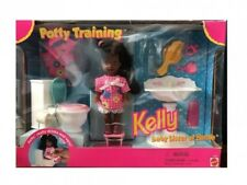 Barbie Baby Sister Kelly Potty Training Playset African / American Rare Colle...