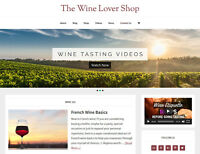 [NEW DESIGN] * WINE LOVER STORE *  blog website business for sale AUTO CONTENT