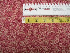 Blumenwiese • natur/rot • Baumwolle gemustert • 0,5m