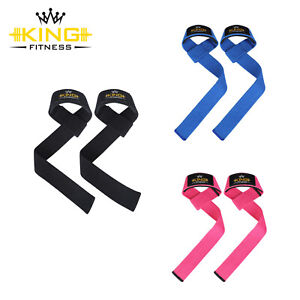 Power Weight Lifting Training Gym Straps Hand Bar Wrist Support Gloves Wrap UK