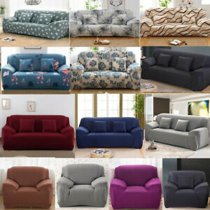 Easy Stretch Couch Sofa Lounge Covers 1 2 3 4 Seater Dining Chair Recliner Cover