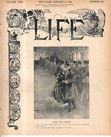 1895 Life January 31 - Newfoundland is starving; Dinosaur hurdle racing; DePlatt