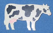 Vintage 1988 JJ Painted Cow Brooch Pin
