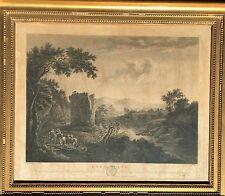 LATE 18th CENTURY FRAMED ENGRAVED LANDSCAPE BY WILLIAM BYRNE - 'EVENING'