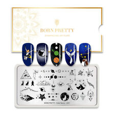 BORN PRETTY Nail Stamping Plates Solar System Star Moon Nail Art Stamp Stencils