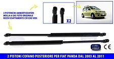 PISTONCINI COFANO POSTERIORE PER FIAT PANDA 2003>2011 MOLLA A PORTELLONE ALZA 2
