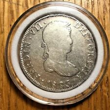1825 JL Bolivia 4 reales Potosi Ferdinand VII Colonial crown peso milled bust