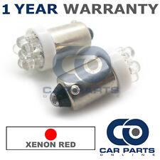 2x XENON rosso BA9S T4W 233 LUCI DI POSIZIONE Upgrade 7 TESTATA LED LAMPADINE