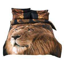 Alicemall Twin 3D Lion Bedding Set 4-Piece Comforter (Twin)