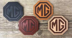 Leather sew on MG Classic Car Patch