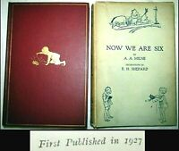 1927 NOW WE ARE SIX A.A MILNE 1ST EDITION 1ST ISSUE DJ WINNIE THE POOH CHILDRENS