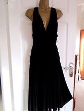 "FABULOUS BLACK OCCASION DRESS BY DEBENHAMS JASPER CON UK-14  BUST 38"" LENGTH 45"""