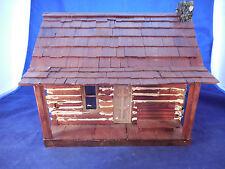 vintage cabin village figure handmade wooden
