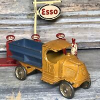 "VTG 1920's TOOTSIETOY Orange & Blue Coal Truck 3"" (Gold Metal Wheels) Nice Cond."