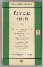 FAMOUS TRIALS 4~Vintage Penguin PB #983~ed Hodge~Dr. Pritchard,Wood etc~1955 UK