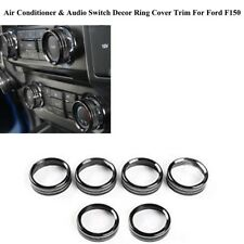 For Ford F150 2016-2018 Air Conditioner & Audio Switch Decor Ring Cover Trim GL