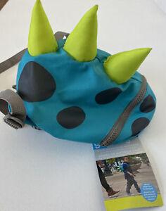 Goldbug 2-In-1 Toddler Harness Backpack Dinosaur Monster Blue Green Grey NIB NWT
