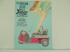 Vintage 1940's 1950's ? Laher Electric Golf Car Cart Brochure L2713