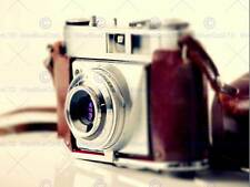 PHOTO OLD VINTAGE RETRO ANTIQUE CAMERA RED SILVER ART PRINT POSTER MP3994B