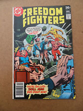 Freedom Fighters 12 . Origin Firebrand .  DC 1978 . FN +