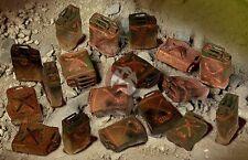 Mig 1/35 Burnt Out US 5 gallon (20L) Jerrycans WWII / Vietnam (18 pieces) 35-371