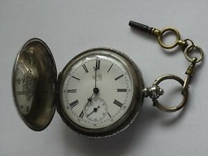 Antique and Rare Digital Chinese Pocket Key Watch  made of silver