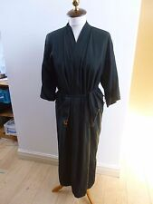Oriental vintage  light weight viscose embroidered  black kimono gown/robe  M