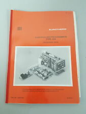 Eurotherm Type 818 Controller / Programmer Engineering Book / User Manual
