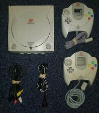 SEGA Dreamcast modded Console GDEMU, battery mod, 2 controllers, etc LOT
