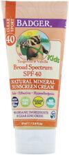 Kids Clear Zinc Sunscreen Cream SPF40, Badger, 2.9 oz