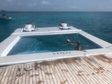 Inflatable yacht open water sea ocean pool with jelly fish protection mesh slide