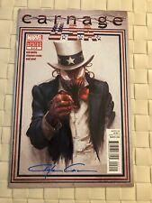 CARNAGE USA #2 Signed By Clayton Crain Uncle Sam