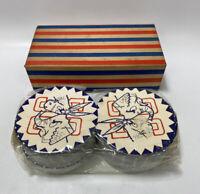 NOS! Lot of 100 Vintage 1956 Democrat/Republican Political Coasters w/ Box!