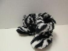 Mud Pie Zebra Faux Fur Boots, Size 6-12 Months, NWT