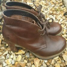 Dr. Martens Brown Wooden Heel Ankle Boots Size 5 Autum Winter