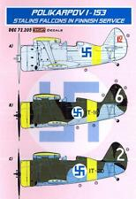 KORA Decals 1/72 POLIKARPOV I-153 IN FINNISH SERVICE