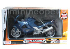 MOTORMAX 76262 BMW K1200 RS SUPER BIKE MOTORCYCLE 1/6 BLUE