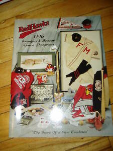 Fargo-Moorhead RedHawks Baseball 1996 Program