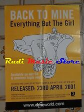 POSTER PROMO BACK TO MINE EVERYTHING BUT THE GIRLS 69X49,5cm NOcd dvd vhs lp mc