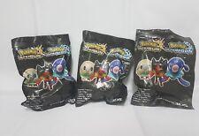 Lote 3 figuras pokemon ultrasol, ultraluna litten popplio y rowlett nintendo 3ds