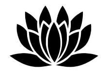 Lotus Flower vinyl Decal / Sticker
